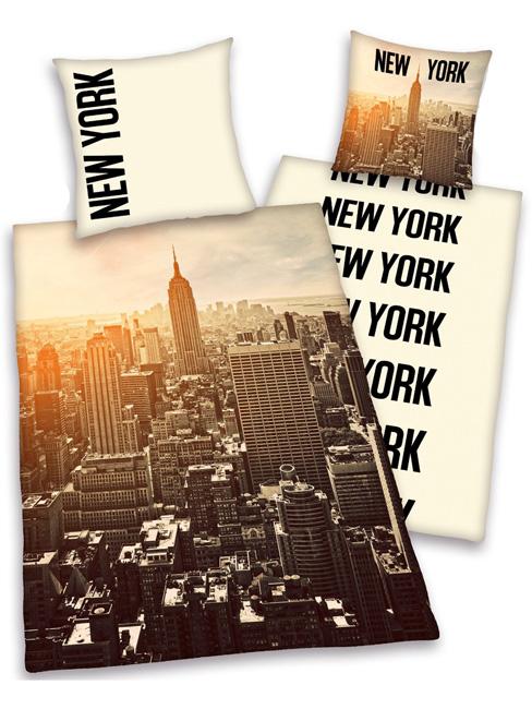 NEW YORK CITY Dekbedovertrek   Eenpersoons NEW YORK SKYLINE set