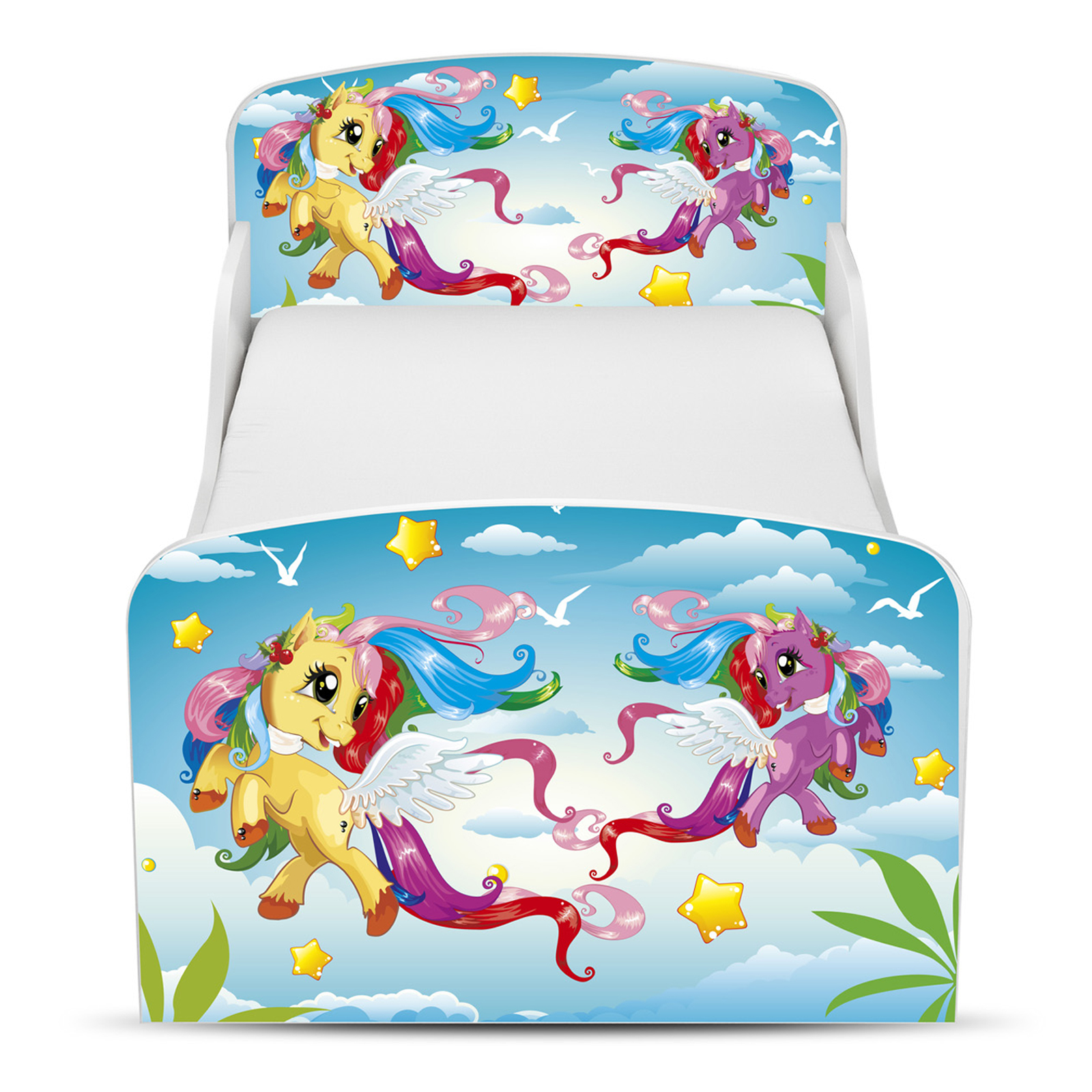 Houten Junior Kinderbed, Peuterbed | MY LITTLE PONY | WIT | INCL