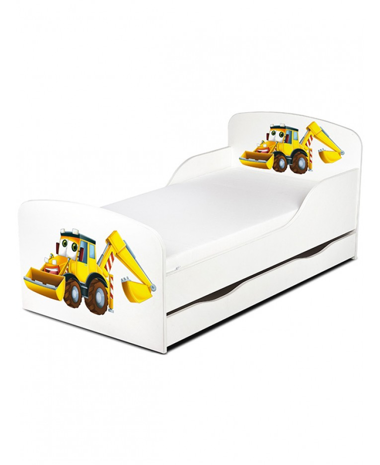 Peuterbed Graafmachine | Kinderbed Graafmachine | Junior bed wit houte