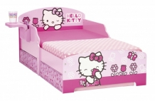 Hello Kitty Houten Junior Bed, Peuterbed inclusief lades | Roze