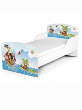 Houten Junior bed, Peuterbed | PIRATEN DIEREN | WIT