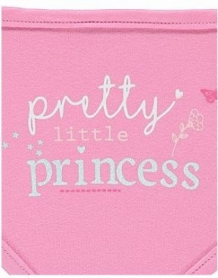 Set van 4 Punt slabbetjes | Meisjes bandana slab I Pretty Little Princess