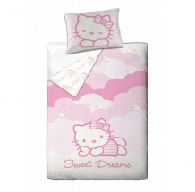 hello kitty eenpersoons dekbedovertrek roze sweet dreams