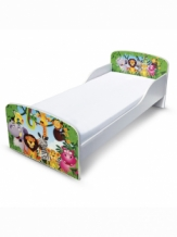 Houten Peuterbed | JUNGLE DIEREN | WIT Junior Bed