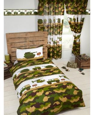 Dekbedovertrek Camouflage  Eenpersoons leger soldaten set   Dekbed